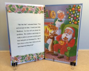 Personalized Christmas book about Santa