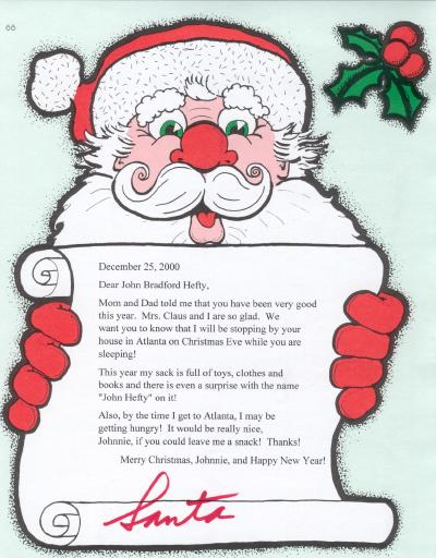 Title: Letter from Santa Claus