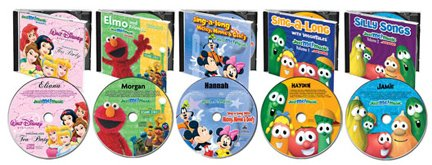 Licenced Character Music CDs - Mickey Mouse, Disney Princesses, Elmo, Veggie Tales, VeggieTales and Barney