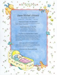 Welcome Baby Keepsake Print
