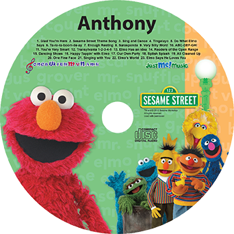 Sing Along With Elmo and Friends, personalized music CD